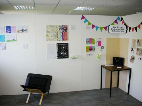 a student graphics exhibition