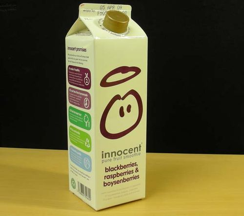 Innocent drinks carton pack shot