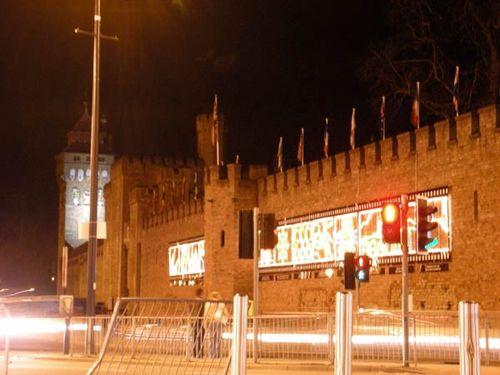 Cardiff Castle during Earth Hour 2009