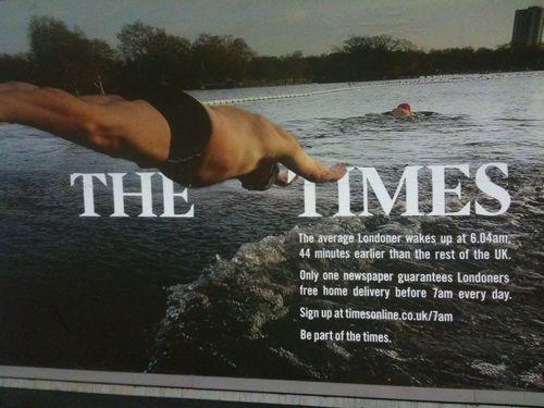 Times tube billboard September 09