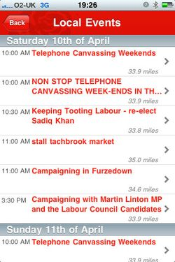 Get involved with Labour on the iPhone