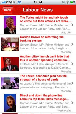 Labour iPhone news