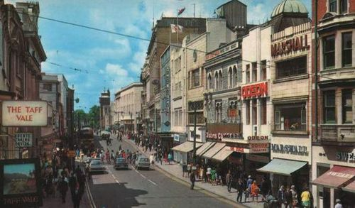 Cardiff Queen Street in the 1960s