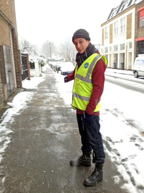 Pavement cleared of snow